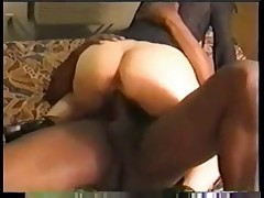 Wife together with husband bearing it big together with black