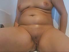 My horny wife in the bathtub