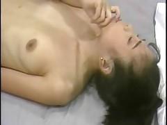 Asian cutie gets herself off (just-drew)