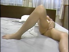 Asian cutie gets herself off (just-drew)
