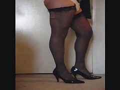 Crossdresser having some fun