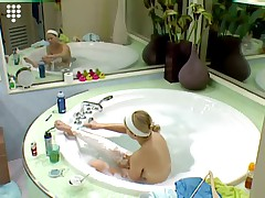 Big Brother Hot Blonde teen Girl Bathtub Shave Shower Nude