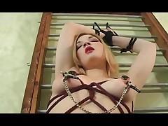Latex Femdom Ties Blonde