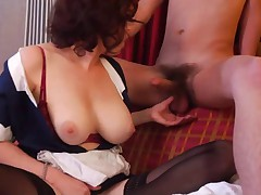 Superhot hairy maid milf getting fucked