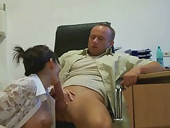 Great Young Brunette Fucking In The Office