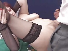 Hairy italian mature anal troia inculata takes hard cock in the ass all the way tits