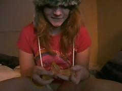 Funny girl in hat