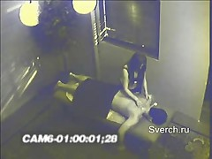 Hidden cam in massage cab.