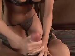 Hottie sucks cock and its cum