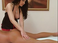 Nice massage hand and blowjob