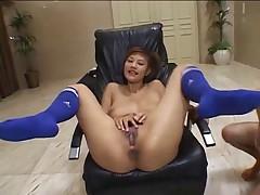 Bukkake - pussy Azusa Ayano