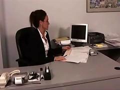 Beautiful office Lesbians
