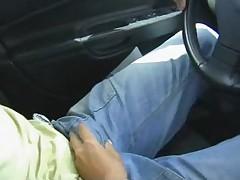Spermeating in the car - german - csm