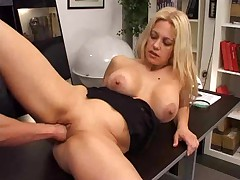 Horny babe fucked in office-- BY SCRYU