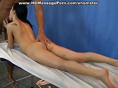 Hard anal fuck at naked massage