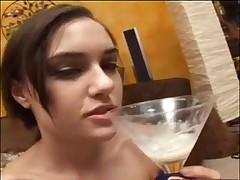 Sasha cumshot and swallow compilation 3
