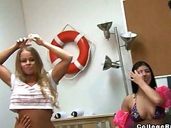Indoor Pool Party With Three Smokin Hot College Girls