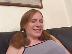 AMAZING Hot Redhead Babysitter 3-way