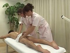 Two girls handjob(censored)