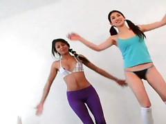 Curious Carina and Lexa - Morning Gymnastics