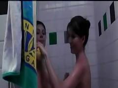 College Dorm Chicks Decide to Take a 3am Shower