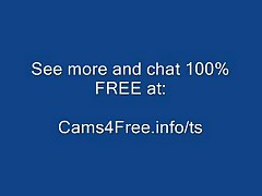 Hot Black Shemale Masturbates and Cums on Webcam Incredible