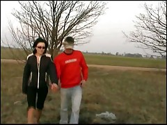 Lithuanian Teen in Nature with 2 boys funny video