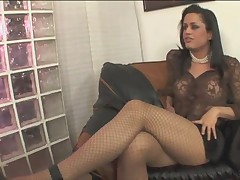 Brunette transex having a lot of dick