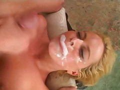 Alicia Rhodes takes two up the ass followed by bukkake