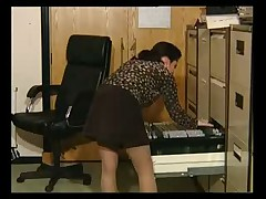 Vicky in the office