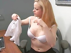 Janessa Masturbating In Her Office