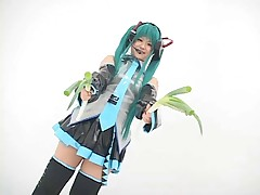 Cosplay Vocaloid - Hatsune Miko 5th of 5 (Censored)