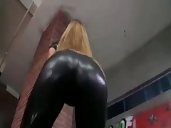 Black latex cat girl