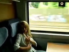 Amateur girl. Train suck and fuck