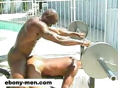 Muscular gay black men fucking