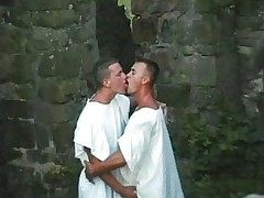 Gay couple fucking outdoors