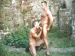Gay span fucking outdoors