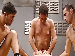 Hungry gay guys fucking and sucking