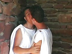 Gay couple sucking and fucking