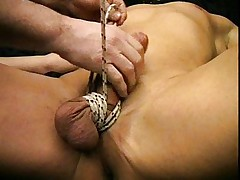 Gay hardcore bondage with clamps
