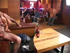 Hot action in the gay bar