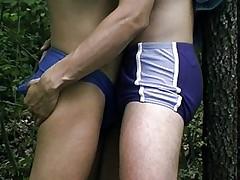 Outdoor fun with the gay boys