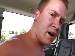 Straight guy cums hard from gay sex