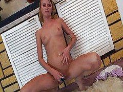 Blond coed sucking and fucking well