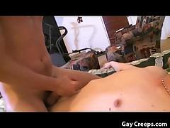 Gayboy abusing sleeping guy