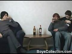Drunken boys having fun