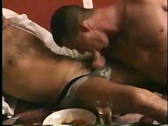 Romantic gay dinner