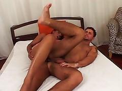 Tranny fucks horny guy