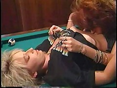 The classic way of womanlike billards