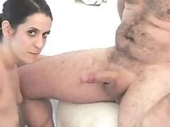 Couple fucking in bath